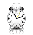 Alarm clock in a retro style vector image