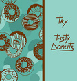 Background with tasty donuts vector image
