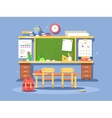 Classroom interior design vector image