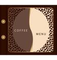 Coffee menu template vector image