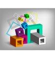 Cubes abstract background vector image