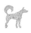 dog zentangle stylized dog freehand sketch with vector image