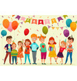 kids party composition vector image