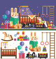 Kids room interior vector image