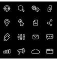line seo icon set vector image