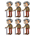 old man with different facial expressions vector image
