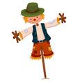 Scarecrow wearing green hat vector image