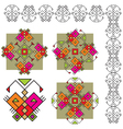 set butterfly ethnic ornaments vector image