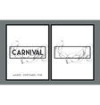 Set of Carnival party posters vector image