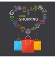 Shopping Clothing Season Concept vector image