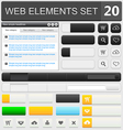 web elements set 20 vector image