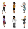 Women cartoons vector