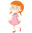 Little girl wearing clean clothes vector image