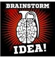 Brainstorm - idea Brain Grenade vector image
