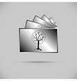 Icon of collection of photos vector image