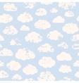 Grange clouds pattern vector image