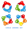 circle arrows set vector image vector image