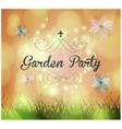 garden party invitation vector image
