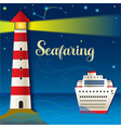 Seafaring vector image vector image