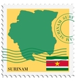 mail to-from Suriname vector image