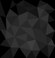 Dark grey background abstract polygon triangle vector image