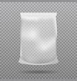 food packaging of paper or foil chips bag package vector image