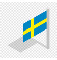flag of sweden isometric icon vector image vector image