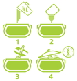 Kitchen icons set how to prepare vector image