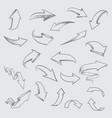 arrow sketches collection arrow set vector image