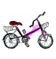 Painted Bicycle vector image