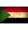 Flags Sudan with dirty paper texture vector image