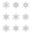 different gray snowflakes vector image vector image
