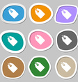 Web stickers tags and banners symbols Multicolored vector image