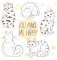 cute cats set vector image