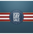 Memorial Day Sale patriotic Banner and Ribbon vector image