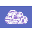 Abstract concept of cloud computing vector image