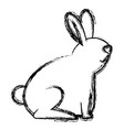 cute rabbit pet icon vector image
