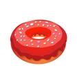 Glazed ring donut vector image