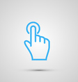 Hand with touching a button or pointing finger vector image