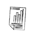 isolated graphic stats vector image