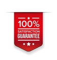satisfaction guaranteed red ribbon vector image
