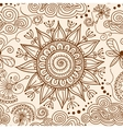 seamless Henna mehndi doodle pattern vector image