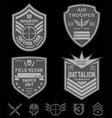 Special forces patch emblem set vector image