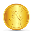 The gold coin vector image