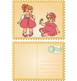 Cute baby girl vector image