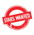 stars wanted rubber stamp vector image