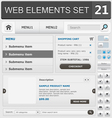 web elements set 21 vector image vector image