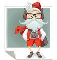 Santa Claus Hipster Style Cartoon vector image