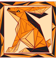 Chinese horoscope stylized stained glass rabbit vector image vector image