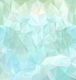 ice blue polygonal triangular pattern background vector image